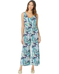 Tommy Bahama - Leinani Leaves Jumpsuit (island Navy) Women's Jumpsuit & Rompers One Piece - Lyst