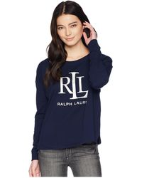 Lauren by Ralph Lauren - Petite Lrl French Terry Sweatshirt - Lyst