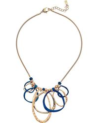 Robert Lee Morris - Sculptural Patina Gold Link Frontal Necklace (patina) Necklace - Lyst
