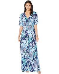 e2bb6c9c288bc6 Lilly Pulitzer Parigi Maxi Dress (bright Navy Armadilly Dally ...