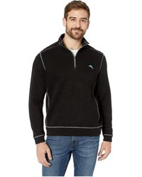 Tommy Bahama - Tobago Bay 1/2 Zip Pullover (black) Men's Sweater - Lyst