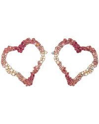 Betsey Johnson - Open Gypsy Heart Earrings (pink) Earring - Lyst