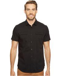 Calvin Klein - Stretch Poplin Button Down Shirt (white) Men's Short Sleeve Button Up - Lyst