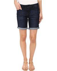 Liverpool Jeans Company - Corine Rolled Denim Shorts In Vintage Super Dark (vintage Super Dark) Women's Shorts - Lyst