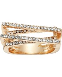 Guess - Pave Bars Ring - Lyst