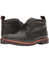 Florsheim - Foundry Plain Toe Chukka Boot (black Horween) Men's Lace-up Boots - Lyst
