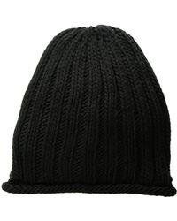 Free People - Rory Rib Knit Beanie (black) Beanies - Lyst