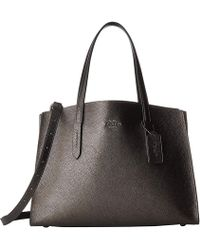 e03785d49e8 COACH - Metallic Leather Charlie Carryall (gunmetal platinum) Handbags -  Lyst