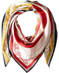 Tory Burch - Constellation Silk Square Scarf (tory Navy) Scarves - Lyst