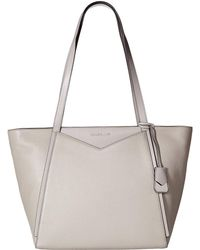 932392bd9fcb MICHAEL Michael Kors - Whitney Large Top Zip Tote (black) Tote Handbags -  Lyst