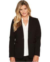 Calvin Klein - 1 Button Jacket (charcoal Melange) Women's Jacket - Lyst