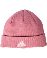 adidas - Team Issue Fold Beanie (heather Grey/rose Gold) Beanies - Lyst