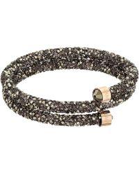 Swarovski - Crystaldust Bangle Double Wrap Bracelet (brown) Bracelet - Lyst