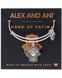 ALEX AND ANI - Path Of Symbols-hand Of Fatima Iii Bangle (rafaelian Gold) Bracelet - Lyst