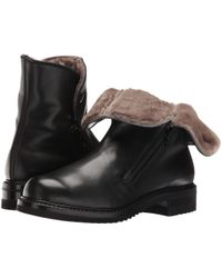 Gravati - Dual-Zip Leather Ankle Boots - Lyst