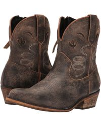 Dingo - Adobe Rose (taupe) Cowboy Boots - Lyst
