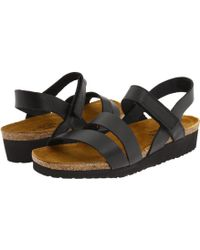 ba3a5df3ac27 Naot - Kayla (black Luster Leather) Women s Sandals - Lyst