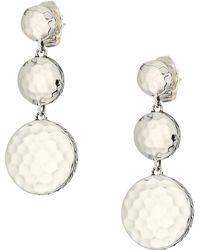 John Hardy - Dot Hammered Triple Drop Linear Earrings (silver) Earring - Lyst