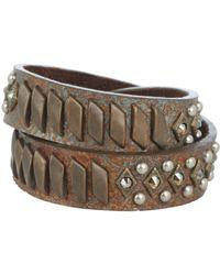Leatherock - B474-f607 (patina) Bracelet - Lyst