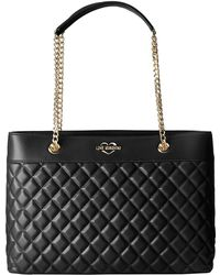 Love Moschino - Super Quilted Tote Chain Strap (taupe) Tote Handbags - Lyst
