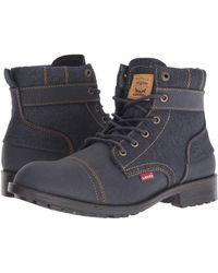 Levi's - Levi's(r) Shoes Artesia Denim (navy) Men's Lace-up Boots - Lyst