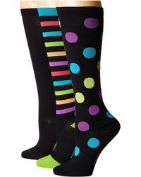 Comfortiva - Compression Socks 3-pack (fun Stripes) Women's Low Cut Socks Shoes - Lyst