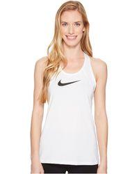 6f018c38fdb34 Nike - Pro Mesh Training Tank (white black) Women s Sleeveless - Lyst