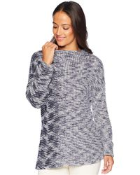 NIC+ZOE - Plus Size Coming Along Top (indigo Mix) Women's Clothing - Lyst