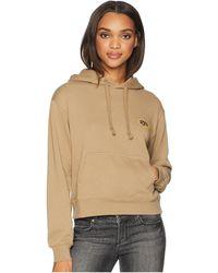 RVCA - Looped Hoodie (wood) Women's Sweatshirt - Lyst