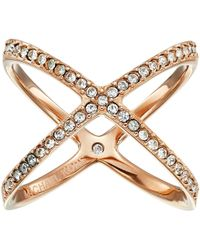 Michael Kors - Brilliance Pave X Ring (gold) Ring - Lyst