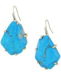 Kendra Scott - Rosenell Earrings (gold/aqua/howlite) Earring - Lyst