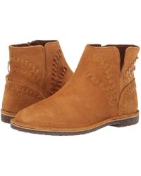 0089d204007f Frye - Sierra Whipstitch Bootie (cashew Soft Oiled Suede dip-dyed Leather)