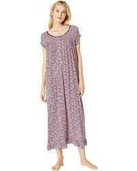 Eileen West - Knit Modal Ballet Nightgown (red Floral) Women's Pajama - Lyst