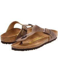 Birkenstock - Gizeh Oiled Leather - Lyst