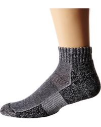 Thorlos Trail Running Mini Crew 3-Pair Pack Charcoal Running Socks 8525285