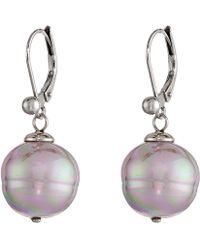Majorica - 12mm Baroque Pearl Drop Earrings (gray) Earring - Lyst