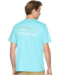 084e3274c Vineyard Vines - Short Sleeve Tuna Hook Pocket Tee (turquoise) Men s T Shirt  -