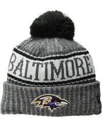 Lyst - KTZ  cuff Star - Baltimore Ravens  Pompom Knit Beanie in Gray ... 6170df00d