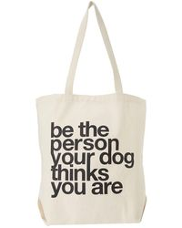 Dogeared - Be The Person Your Dog Thinks You Are Tote (natural) Tote Handbags - Lyst