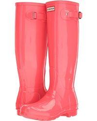 HUNTER - Original Tall Gloss Rain Boots (mushroom) Women's Rain Boots - Lyst
