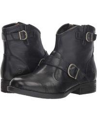 Born - Regis (black Full Grain) Women's Pull-on Boots - Lyst