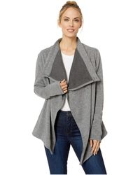Fig Clothing - Klu Cardigan (heather Grey) Women's Sweater - Lyst