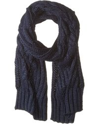Lauren by Ralph Lauren - Engineered Cable Scarf (navy) Scarves - Lyst