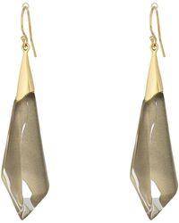Alexis Bittar - Faceted Wire Earrings (warm Grey Clear) Earring - Lyst