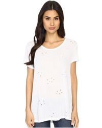 Culture Phit - Salona Short Sleeve Distressed Top - Lyst