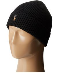 Polo Ralph Lauren - Signature Merino Cuff Hat (fireglow Heather) Caps - Lyst