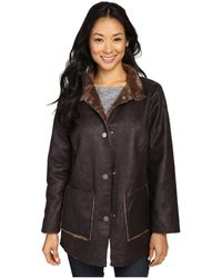 Dylan By True Grit - Easy Rider Vintage Faux Leather Reversible Coat W/ Snap Closure And Pockets - Lyst