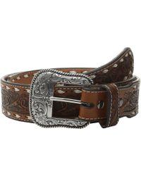 Ariat - Tapered Floral Belt (tan) Men's Belts - Lyst
