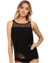 Miraclesuit - Solid Separates Mirage Tankini Top (black) Women's Swimwear - Lyst