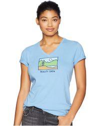 Life Is Good. - Reality Show Crusher Vee T-shirt (powder Blue) Women's T Shirt - Lyst